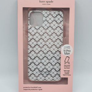 Iphone 11 Pro Max Clear With white spades KS Case